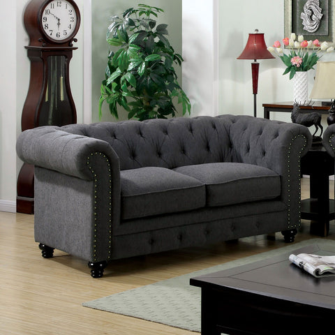 STANFORD - Sofa + Love Seat + Chair - Gray