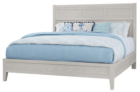 King Louvered Bed / Low Profile Footboard