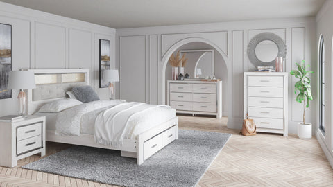 Altyra Panel Bookcase Bed with Storage