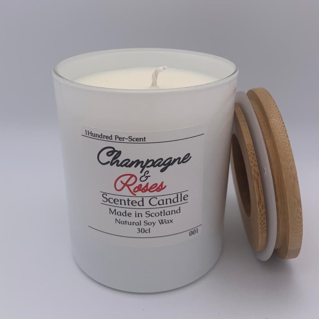 #001 Champagne & Roses 30cl Candle