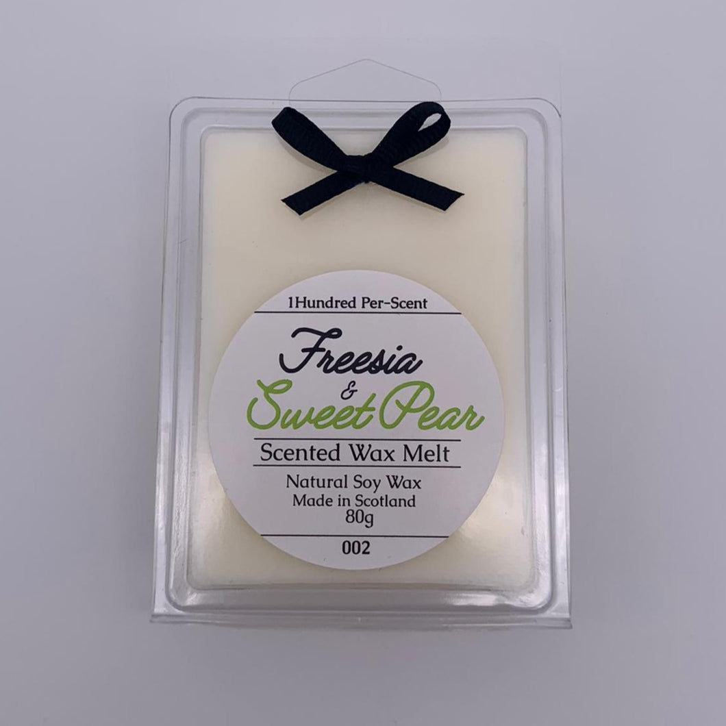 #002 Freesia & Sweet Pear Wax Melt