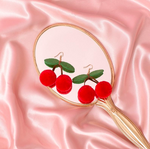 Cherry PomPom Earrings