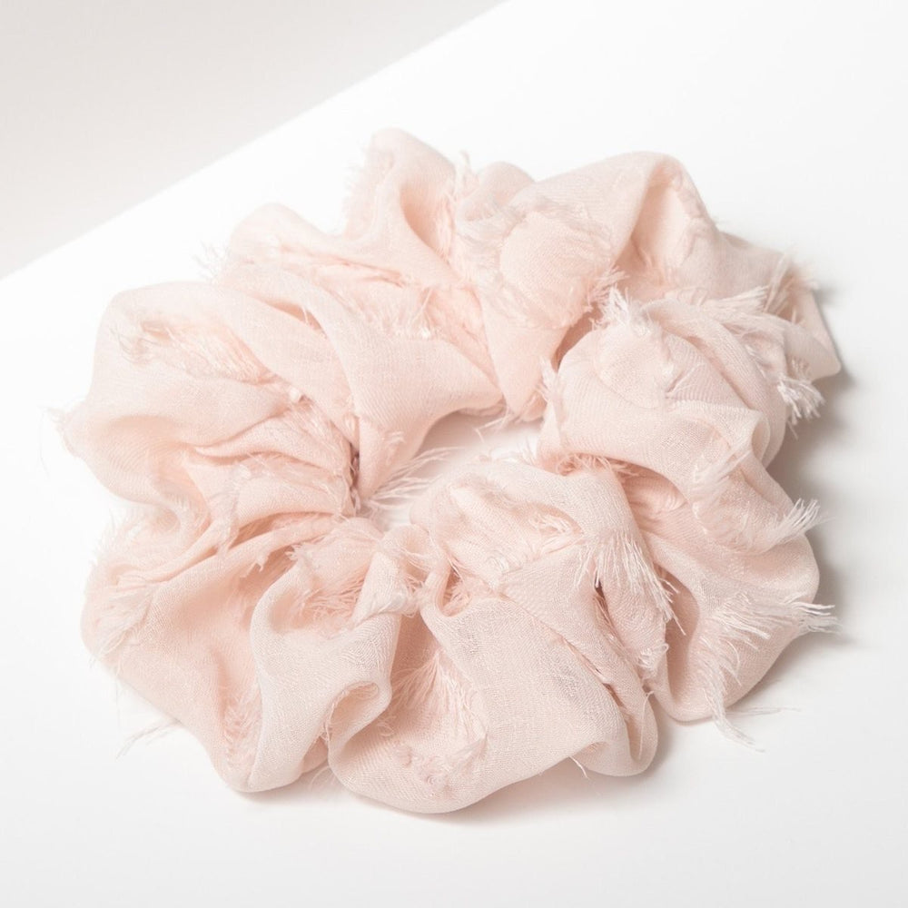 Frayed Blush Brunch Scrunchie