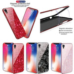 Magnetic Adsorption Shell Glass Protective Cases for iPhone XS Max XR XS X 8Plus 7Plus 8 7 6sPlus 6Plus