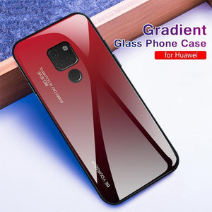 Gradient Tempered Glass Back Anti-scratch Protective Case for Huawei Mate 20 20Pro 20Lite