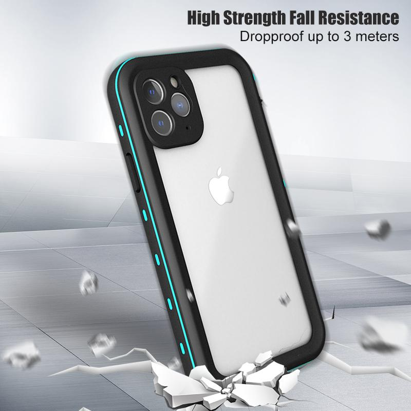 RIP68 Waterproof Shockproof Full Body Protective Cover for iPhone X XS XS Max 11 Pro Max