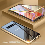 Upgraded Two Side Tempered Glass Magnetic Adsorption Phone Case for Samsung Note 10 5G S10 S10 Plus S10 E S10 5g