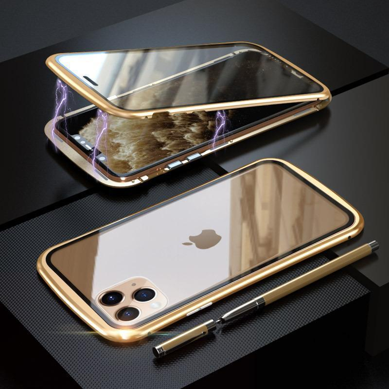 Upgraded Two Side Tempered Glass Magnetic Adsorption Phone Case for iPhone 11 11Pro 11Pro Max XS XS Max 8 7 Plus