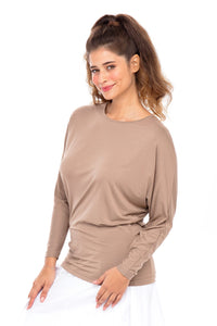 The Erika | Dolman Top (Taupe)