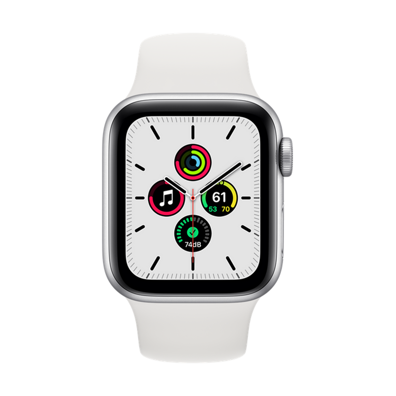 Apple Watch SE Silver Aluminum Case with Sport Band