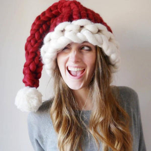 Christmas Knitted Santa Hat