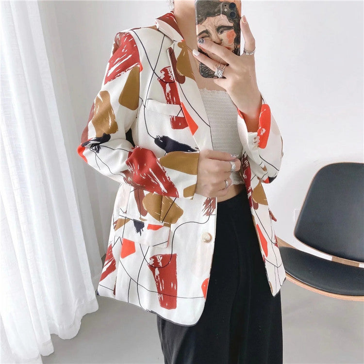 Women's fashion casual retro blazer