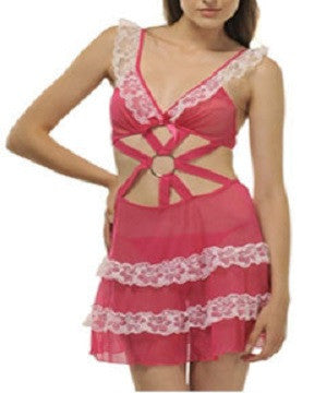 K75-2445 Pink Baby Doll Nighty