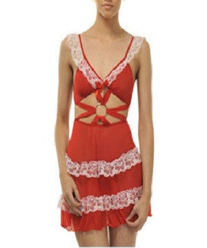 K75-2445 Red Baby Doll Nighty