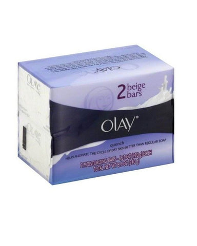 Olay Quench Helps Alleviate The Cycle Of Dry Skin Better Than Regular Soap 2 Beige Bars