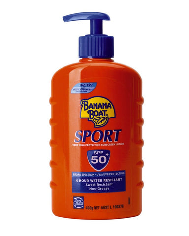 Banana Boat Sport Very High Protection Sunscreen Spf-50 Broad Spectrum Uva/Uvb Protection Sweat Resistant