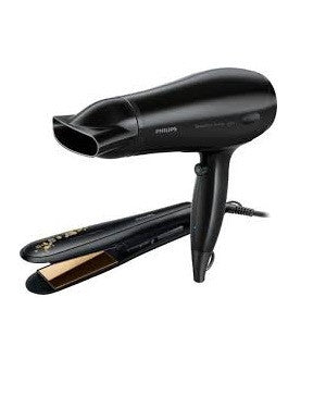 PHILIPS KERASHINE HAIR DRYER AND STRAIGHTNER SET  HP8646 , THE KERASHINE GIFT SET FOR SILKY SMOOTH HAIR