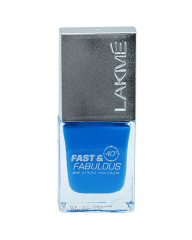LAKME ABSOLUTE FAST & FABULOUS NAIL COLOR AQUA BLAST 04 - 10 ML