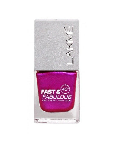 LAKME ABSOLUTE FAST & FABULOUS NAIL COLOR PURPLE FIX 09 - 10 ML