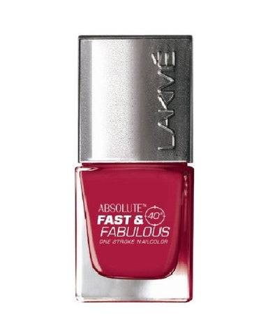 LAKME ABSOLUTE FAST & FABULOUS NAIL COLOR FIZZY PINK 20 - 10 ML