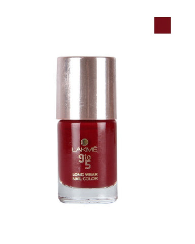 LAKME 9 TO 5 LONGWEAR NAIL COLOR RED ALERT - 9 ML