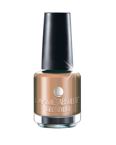 LAKME ABSOLUTE GEL STYLIST NAIL PAINT CARMEL MELT-15 ML