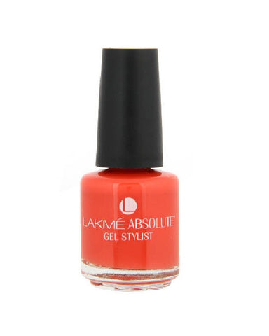 LAKME ABSOLUTE GEL STYLIST NAIL PAINT ELECTRIC ORANGE-15 ML
