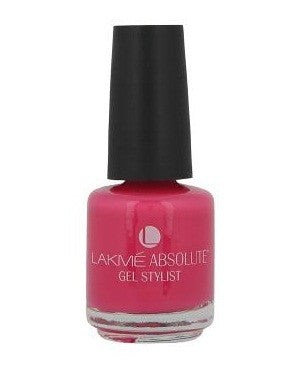 LAKME ABSOLUTE GEL STYLIST NAIL PAINT PINK BRUST-15 ML