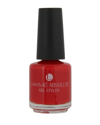 LAKME ABSOLUTE GEL STYLIST NAIL PAINT TOMATO TANGO-15 ML