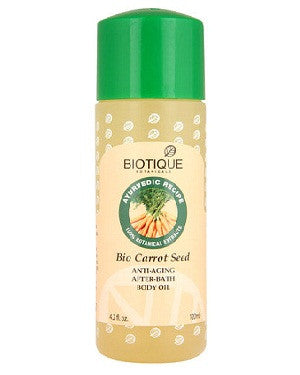 Biotique Bio Carrot Seed Anti-Ageing After Bath Body Oil (120Ml)