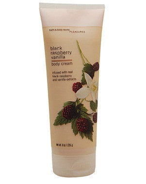 Bath And Body Works Pleasures Collection Black Raspberry Vanilla Body Cream 226Gm