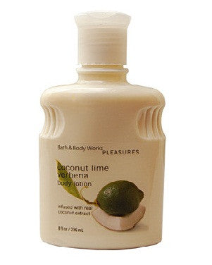 Bath And Body Works Pleasures Collection Coconut Lime Verbena Body Lotion 236Ml