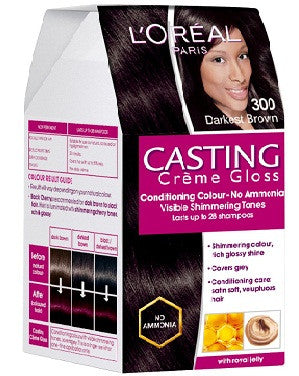 L'Oreal Paris Casting Cream Gloss-Darkest Brown 300