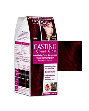 L'Oreal Paris Casting Cream Gloss-Black Cherry 360
