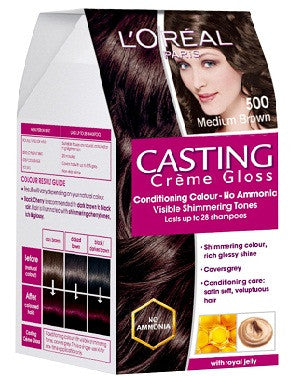 L'Oreal Paris Casting Cream Gloss-Medium Brown 500