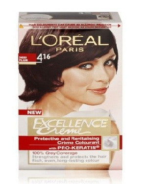 L'Oreal Paris Excellence Creame-Deep Plum 416