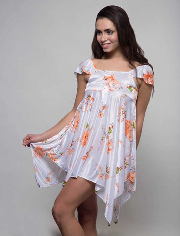 Kunchals Frock Style Single  Orange Nighty -K75 -3146