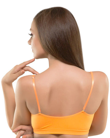 Eva Paris-Full Cup Padded Single Orange Sports Bra-K66-693