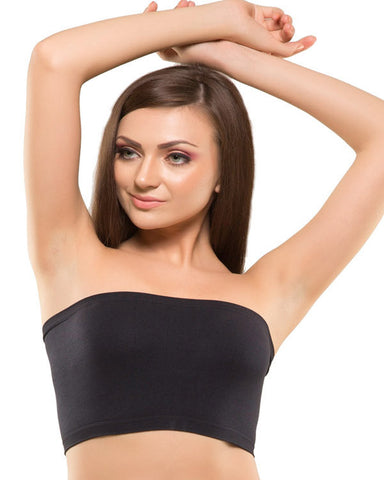 Eva Paris-Full Cup Non Padded Single Black Tube Top-K66-797