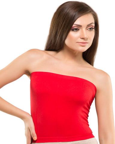 Eva Paris-Full Cup Non Padded Single Red Tube Top-K66-838