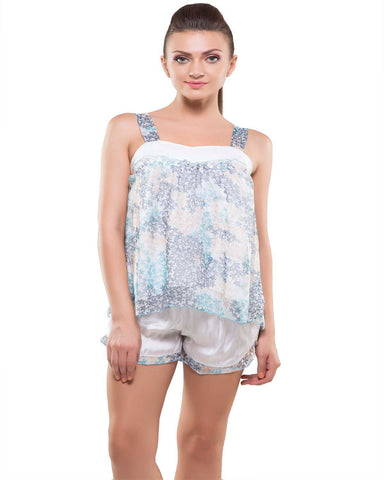 Kate-2 Pes Hot Short Blue Night Wear-K75-3343