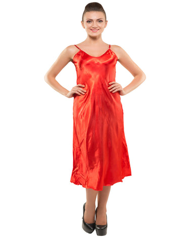 Eva Paris-2 Pes Set Nighty With Gawn Red Night Wear-K75-3347