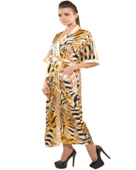 Eva Paris-2 Pes Set Nighty With Gawn Skin+Print Night Wear-K75-3347