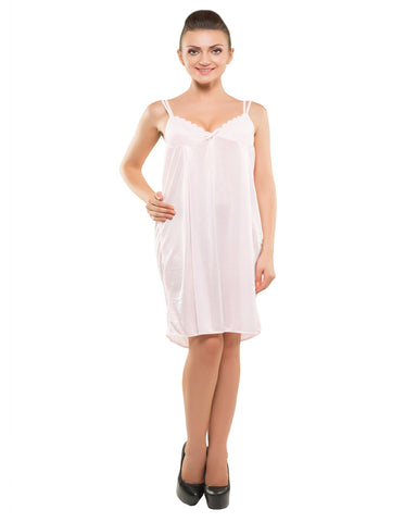 Eva Paris-2 Pes Set Nighty With Gawn Pink Night Wear-K75-3349