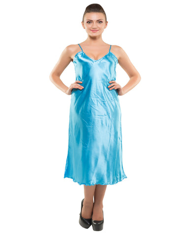 Eva Paris-2 Pes Set Nighty With Gawn Blue Night Wear-K75-3355