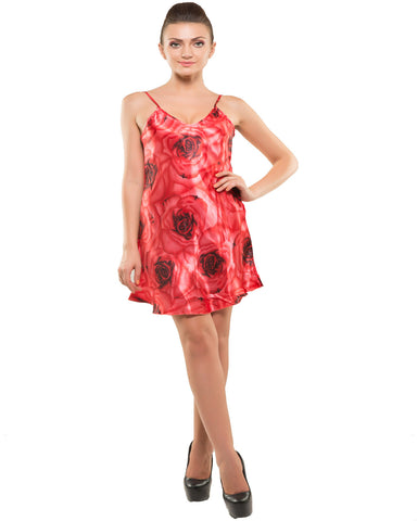 Kunchals-2Pes Short Nighty With Gaoun Rose Night Wear-K75-3611