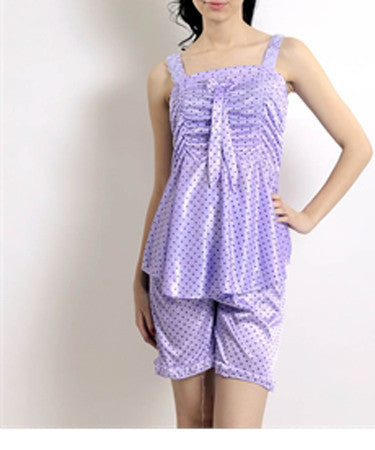 K75-2707 Purple 2 Pcs Set Nightwear