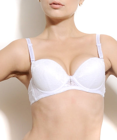 K66-2463 White Pushup Multiway Bra