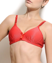 K66-2465 Red Non Wired Padded Bra