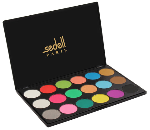 Sedell Professional Matte Shining  Eye Shadow Powder Palette Set of 18 Colors